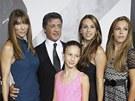 Sylvester Stallone, jeho manželka Jennifer Flavinová a dcery Sistine, Sophia a Scarlet