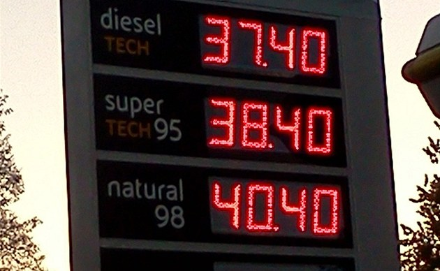 Benzinka Agip, Pardubice prodává Natural 98 za více ne� 40,40 K�.
