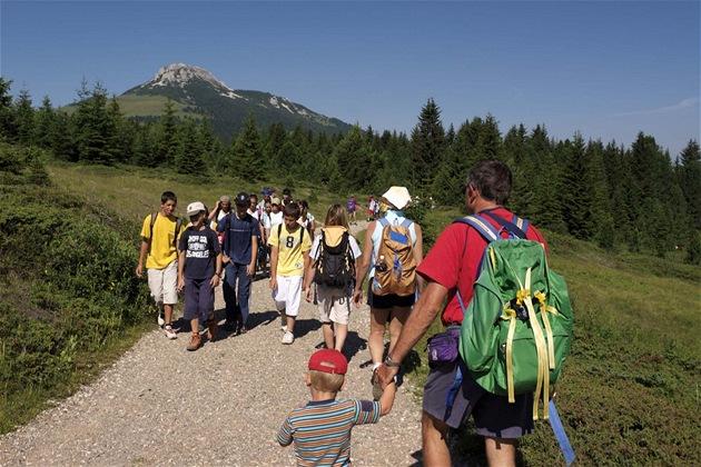 Typická letní atmosféra v Dolomitech