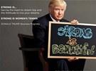 SÍLA JE KRÁSNÁ. Americký miliardář Donal Trump pózuje v nové kampani Ženské tenisové asociace.