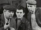 Lubom�r Lipsk�, Ladislav Trojan a Jan Skope�ek v seri�lu T�i chlapi v chalup� (1963)