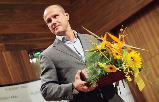 Hokejista Martin Straka, který tento týden oslavil čtyřicátiny, vstoupil do Dvorany slávy Plzeňského kraje.