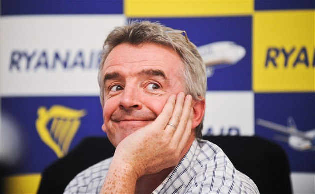 &#233;f leteck&#233; spolenosti Ryanair Michael O&#39;Leary na tiskov&#233; konferenci v Lond&#253;n