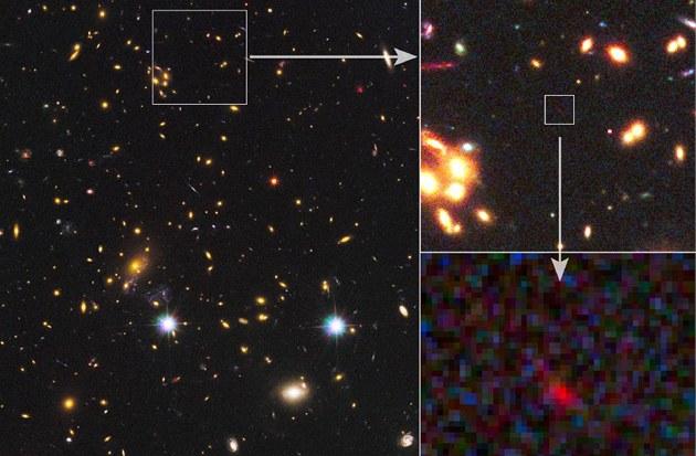 Sv�tlo ze zatím nejvzdálen�j�í galaxie, jakou kdy �lov�k spat�il.