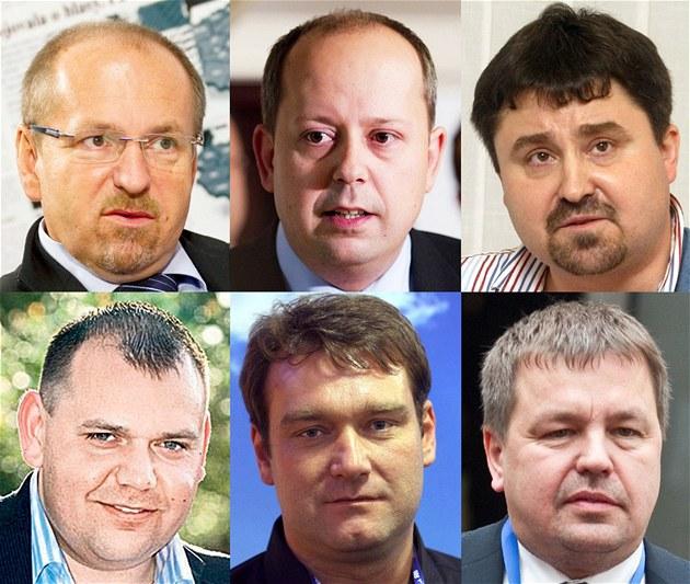 �estice rebel� v ODS (naho�e zleva: Ivan Fuksa, Marek �najdr, Tomá� Úlehla, Jan
