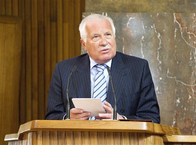 Prezident Václav Klaus se v pražském Karolinu zúčastnil  oslavy 150. výročí