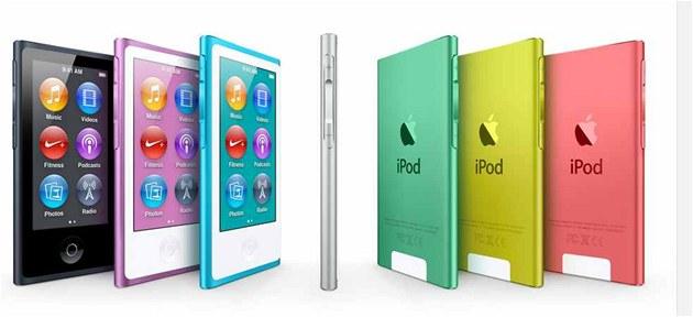 P�ehráva�e iPod nano jsou v sedmi barevných provedeních