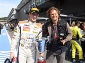 Fotograf Jiří Křenek (vpravo) a závodník Josef Král.