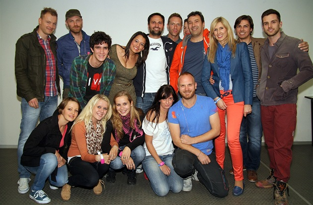 Skupina Coldplay s �eskými fanou�ky