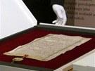 Originál vzácného dokumentu bude nyní čtyři dny vystaven v Praze 4 v areálu archivu na Chodovci.