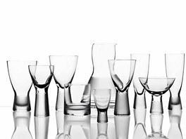 BOMMA - ručně foukané sklenice z křišťálového skla  jsou dokončeny pomocí sofistikované tvarovací technologie a brousících nástrojů.
