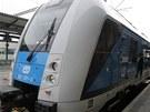 V Českých Budějovicích představily České dráhy novou vlakovou soupravu RegioPanter. Jezdit bude zejména na trati České Budějovice - České Velenice.