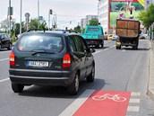 Konec cyklopruhu na silnici v Michli