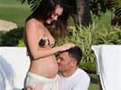 Brian Austin Green a Megan Foxov� str�vili p�ed porodem dovolenou na Havaji.