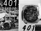 Výškoměr druhého pilota z letadla YU-AJO.