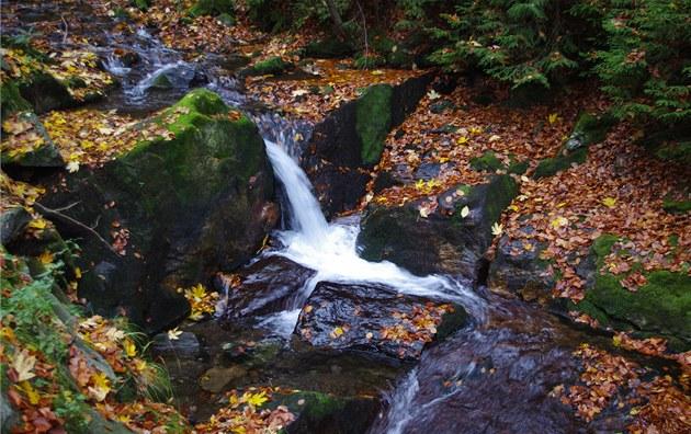 Kaskádovitý stříbrný potok nad vodopády | foto: martin janoška