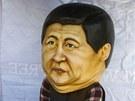 Tibeťan v masce budoucího čínského prezidenta Si Ťin-pchinga. Tibetská exilová vláda Peking žádá, aby uvolnil represe v Tibetu.