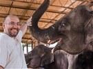 Janita s ředitelem pražské zoo Miroslavem Bobkem