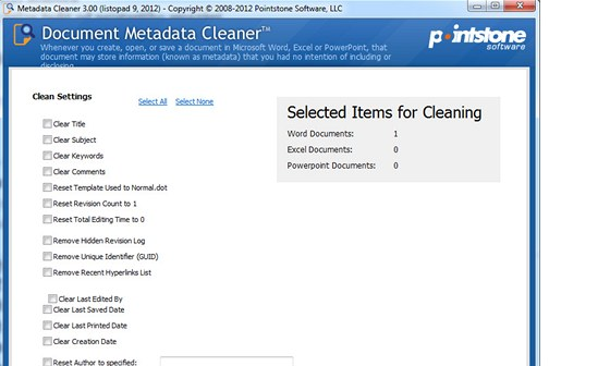 Metadata Cleaner