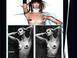 Modelka Karlie Klossová a její úpravy ve Photoshopu