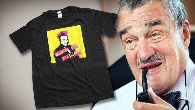 Tri�ko s punkovým Karlem Schwarzenbergem stojí v e-shopu stokorunu.