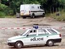 Prázdná dodávka z takzvané loupeže století, při které bylo 16. září 2002 ukradeno 154 miliónů korun.