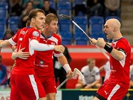 Proti Finsku si čeští fotbalisté užili gólovou radost jen jednou. Autorem čestného úspěchu byl Milan Tomašík (vlevo).