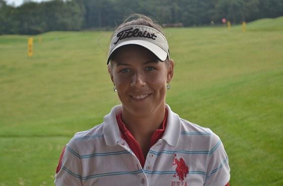 Lucie Hinnerová, jeden z největších současných talentů českého ženského golfu.