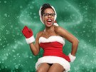 Zp�va�ka Tonya Graves jako sexy Santa Claus