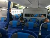 Na palubě letadla Boeing 787 Dreamliner