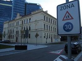 Zna�ka v Baarov� ulici v Praze 4.