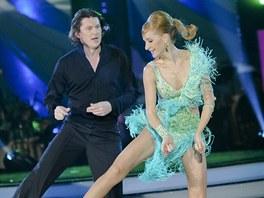 Martin Procházka tančil jive na hudbu, kterou neznal. Musel proto neustále sledovat partnerku.