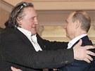 Depardieu se v Soči setkal s Putinem (leden 2013).