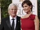 Richard Gere a Carey Lowellová  (Zlaté glóby, 13. ledna 2013)