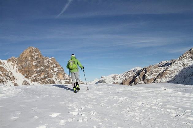 Skialp v národním parku Fanes-Sennes-Prags.