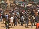 Francouzský prezident vítán jako hrdina v Timbuktu