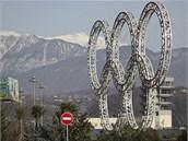 Olympijské kruhy v So�i (6. února 2013)