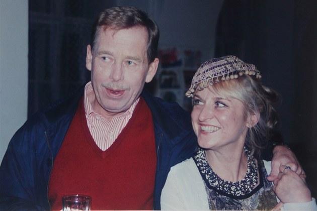 Psychoterapeutka Jitka Vodňaská a Václav Havel