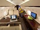 Gulfstream G650 - podle výrobce se do kabiny pohodlně vejde až 18 cestujících.