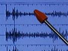 Detail záznamu z japonského seismometru (12. února 2013)