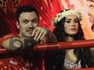 Brian Austin Green a Megan Foxová na karnevalu v Riu (11. února 2013)