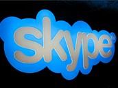 Logo firmy Skype v�vod� jejich kancel���m