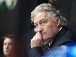 Zadumaný pardubický trenér Miloš Říha.