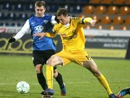 Obnovenou premiéru ve žlutém dresu FC Vysočina  na stadionu v Jiráskově ulici si v sobotu odbyl útočník Arnold Šimonek. K úspěšnému výsledku však nepomohl.