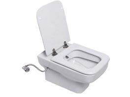 WC a bidet v jednom -  tryska je um�st�n� v zadn�m l�mci sanit�rn� keramiky.