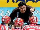 Vladimír Růžička, trenér hokejové Slavie