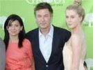 Alec Baldwin s manželkou a dcerou Ireland, kterou má s herečkou Kim Basingerovou.