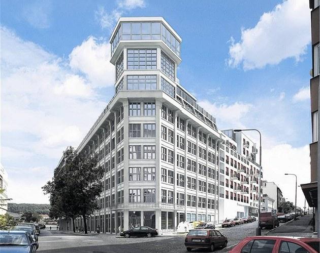 V bývalé továrn� Regula v pra�ských Nuslích vyr�stá projekt Liberty Building.