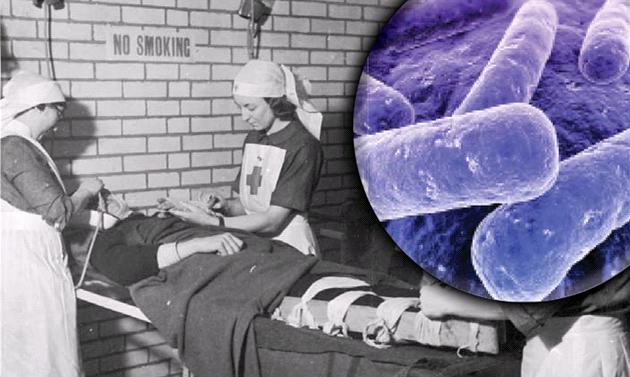 Bakterie se za první světové války šířily nemocnicemi a lidé s pouhým lehkým