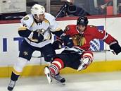 """Rich Clune (na snímku vlevo): """"V NHL je strach všudypřítomný."""""""